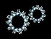 Diamond Cogwheels — Stock Vector