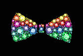 Gem Bow Tie — Vector de stock