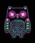 Gem Owl — Stock Vector