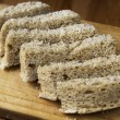 Bran bread healthy food — Stock Photo
