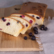 Stock Photo: Cake with black currant of oat bran