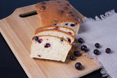 Cake with black currant of oat bran — Stock Photo