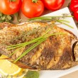 Fried fish crucian, carp — Stock Photo #40964837