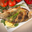 Fried fish crucian, carp — Stock Photo #40964965