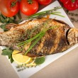 Stock Photo: Fried fish crucian, carp