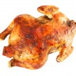 Stock Photo: Whole baked chicken isolated