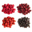 Stock Photo: Freeze-dried berries, blueberries, strawberries, raspberries, cherry isolated