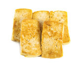 Fried tofu on a white background — Stock Photo