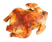 Whole baked chicken isolated — Stock Photo