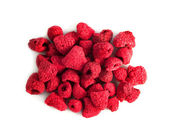 Freeze-dried berries, raspberries, isolated — Stock Photo