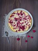 Homemade cheesecake. rustic style — Stock Photo