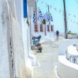 Traditional empty street and architecture in Santorini, Greece — Stock Photo #27232363