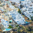 Amazing overall view of Fira village on the island of Santorini in Greece — Stock Photo