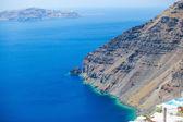 Paisaje del mar egeo en santorini, grecia — Foto de Stock