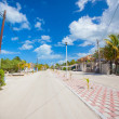 Sandy street in an exotic country on the Mexican island — Stock Photo #27680279