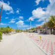 Stock Photo: Sandy street in exotic country on Mexicisland