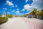 Calle arena en un país exótico de la isla mexicana — Foto de Stock