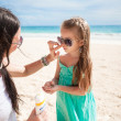 Child protection sun cream — Stock Photo