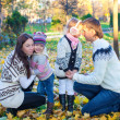 Family autumn vcation — Stock Photo