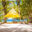 Perfect tropical beach in exotic resort — Foto de Stock