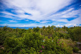 Panoramic views of beautiful sky and ocean from the balcony — Stock Photo
