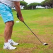 Stock Photo: Close-up of mplaying golf