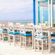 Outdoor cafe on the beach in Atlantic coast — Стоковая фотография