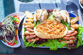 Seafood on the plate. Prepared Shellfish. — Stock Photo