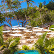 Stock Photo: Luxury exotic hotel in Seychelles