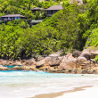 Stock Photo: Beautiful exotic tropical beach at Seychelles