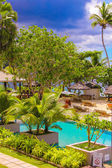Exotic resort in a tropical country Seyshelles — Stock Photo