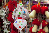 Christmas colorful toys for the fur in a supermarket — Foto de Stock