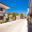 Sandy street in an exotic country on the Boracay island — Stock Photo #39593157