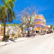 Sandy street in an exotic country on the Boracay island — Stock Photo