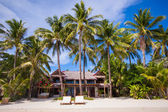 Cozy little hotel on a tropical exotic resort — Stock Photo
