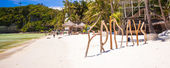 Word Friday made of wood on Boracay island — Stock Photo