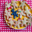 Sad black and ready funny gingerbread cookies — Stock Photo