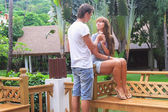 Young couple relaxing in exotic resort — Стоковое фото