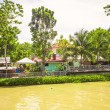Tropical Loboc river and asian village, Bohol Island, Philippines — Stock Photo