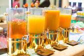 Fresh juice at restaurant on breakfast — Stock Photo