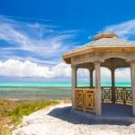 Traditional Caribbean arbor on shore — Stock Photo #47053837