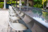 Outdoor bar on tropical beach at Caribbean — Stock Photo