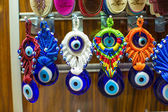 Amulets from evil eye on the market in Istanbul — Stock Photo
