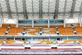 Empty grandstand seat — Stock Photo