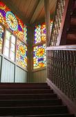 мозаика окна на вход в дом — Стоковое фото