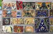 Handmade tiles in the street in Tbilisi, Georgia — Stock Photo
