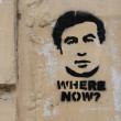 Graffiti image of president Saakashvili - Stock Photo