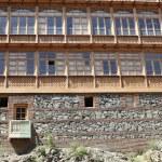 Traditional Georgian urban houses — Stock Photo