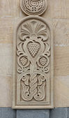 Bas relief with Georgian ornament — Stock Photo