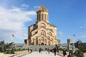 Saint trinity cathedral in Tbilisi, Georgia — Stock Photo